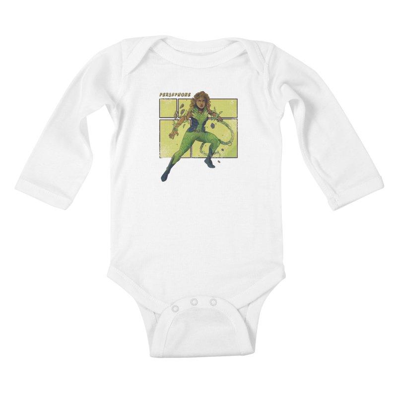 PERSEPHONE Kids Baby Longsleeve Bodysuit by The Legends Casts's Shop