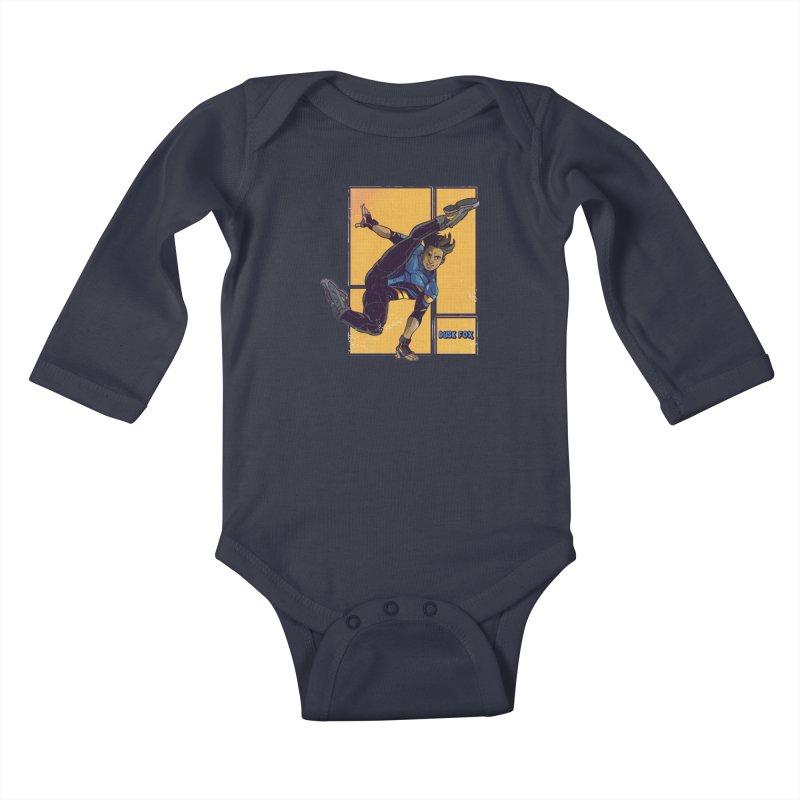DUSK FOX Kids Baby Longsleeve Bodysuit by The Legends Casts's Shop