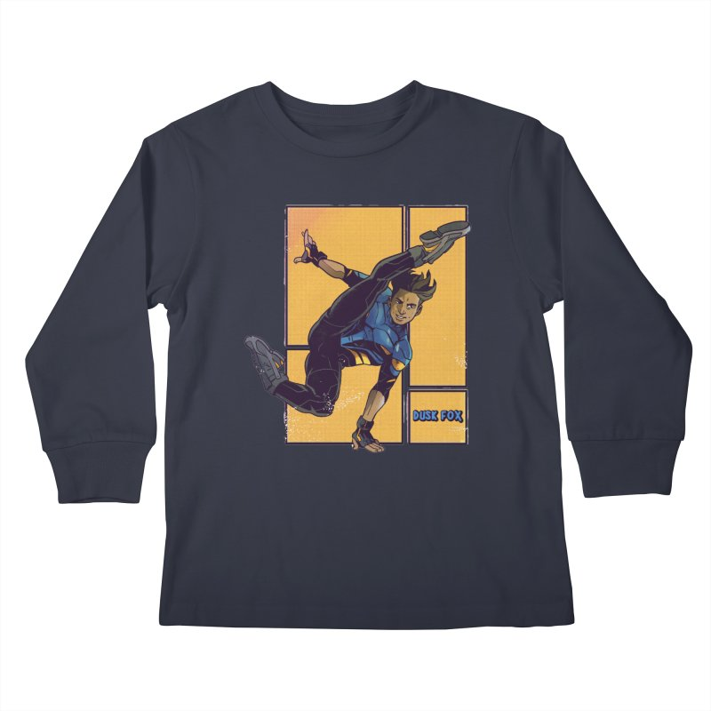DUSK FOX Kids Longsleeve T-Shirt by The Legends Casts's Shop