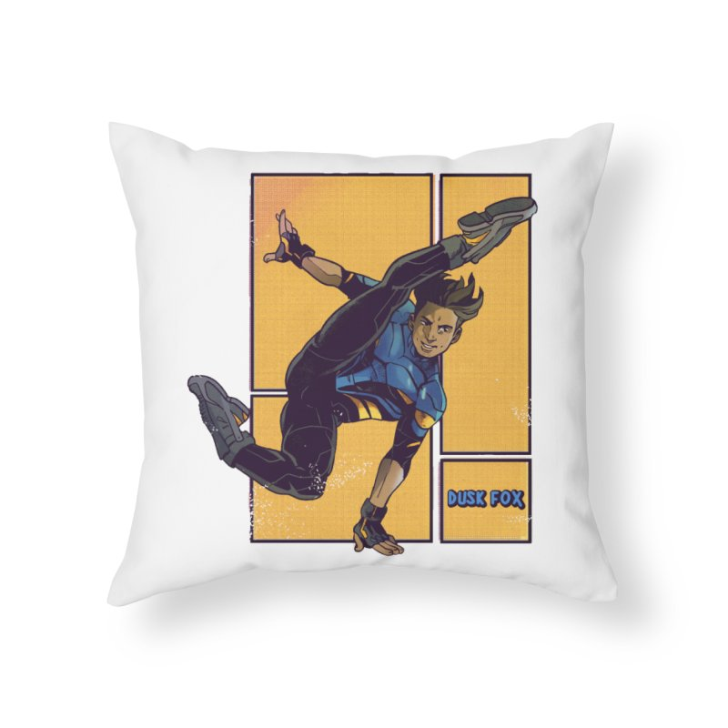 DUSK FOX Home Throw Pillow by The Legends Casts's Shop