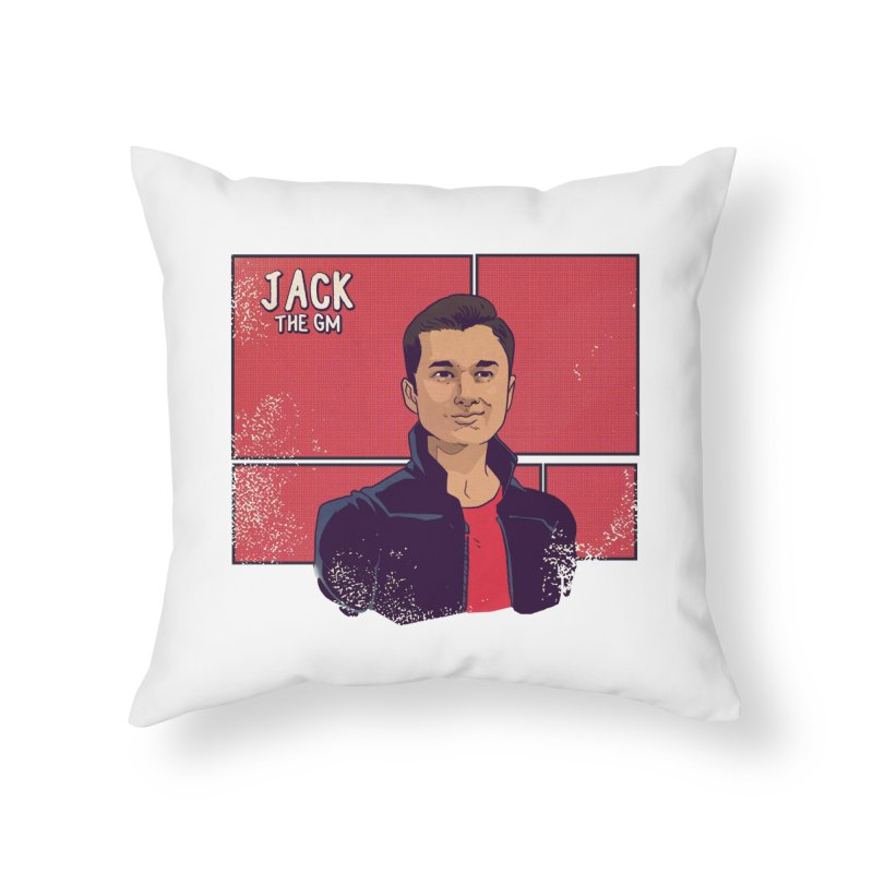 JACK Home Throw Pillow by The Legends Casts's Shop