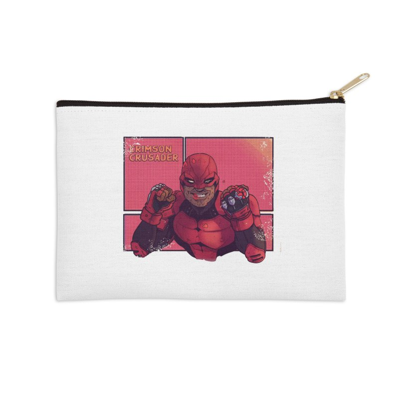 CRIMSON CRUSADER Accessories Zip Pouch by The Legends Casts's Shop