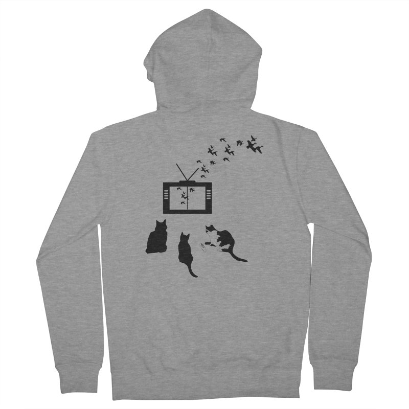 BirbTV Women's French Terry Zip-Up Hoody by theletterandrew's Artist Shop