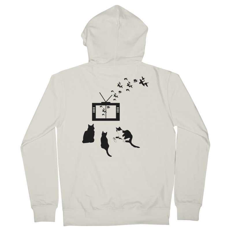 BirbTV Men's French Terry Zip-Up Hoody by theletterandrew's Artist Shop