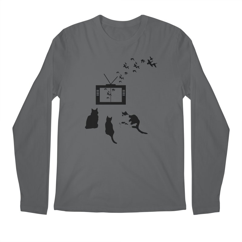 BirbTV Men's Longsleeve T-Shirt by theletterandrew's Artist Shop