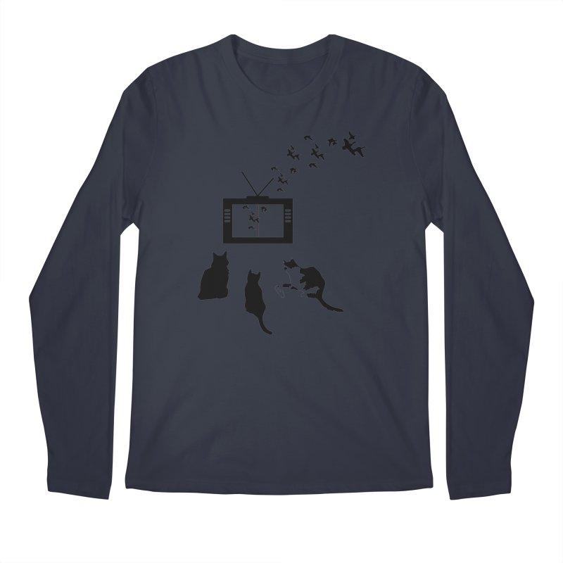 BirbTV Men's Regular Longsleeve T-Shirt by theletterandrew's Artist Shop