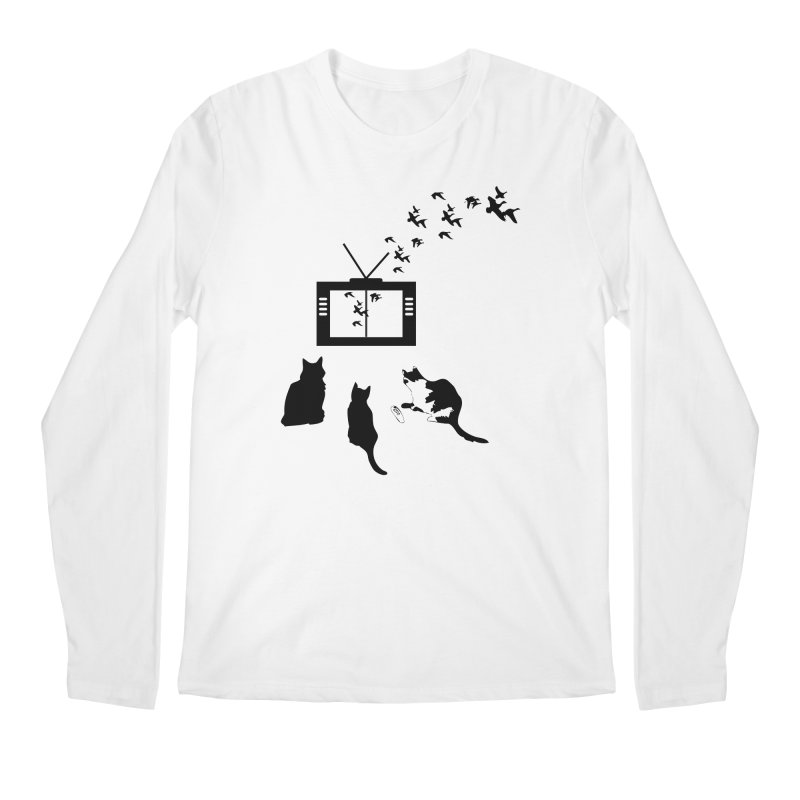 BirbTV Men's Regular Longsleeve T-Shirt by theletterandrew's Artist Shop