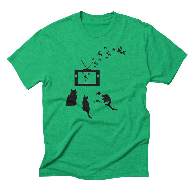 BirbTV Men's Triblend T-Shirt by theletterandrew's Artist Shop