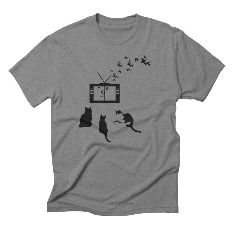 BirbTV Men's Triblend T-Shirt by theletterandrew's Artist Shop