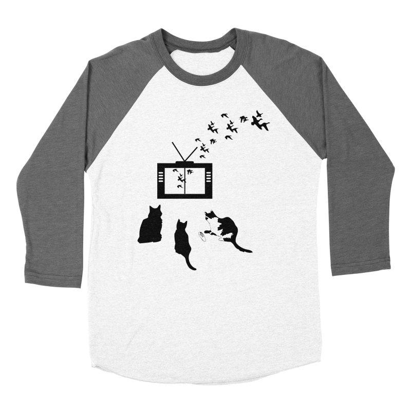 BirbTV Men's Baseball Triblend Longsleeve T-Shirt by theletterandrew's Artist Shop