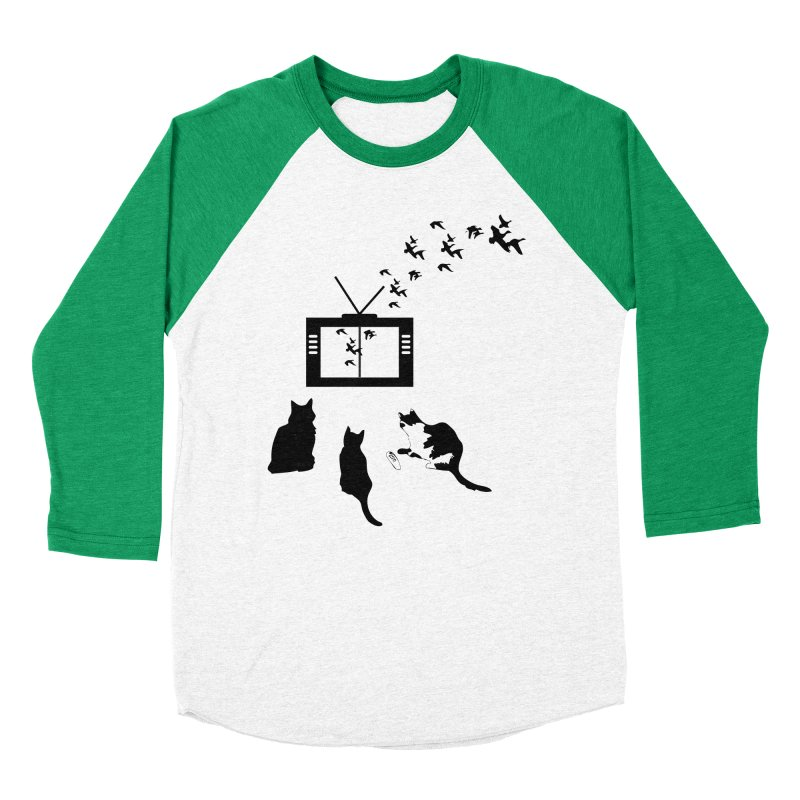 BirbTV Men's Baseball Triblend Longsleeve T-Shirt by theletterandrew's Artist Shop