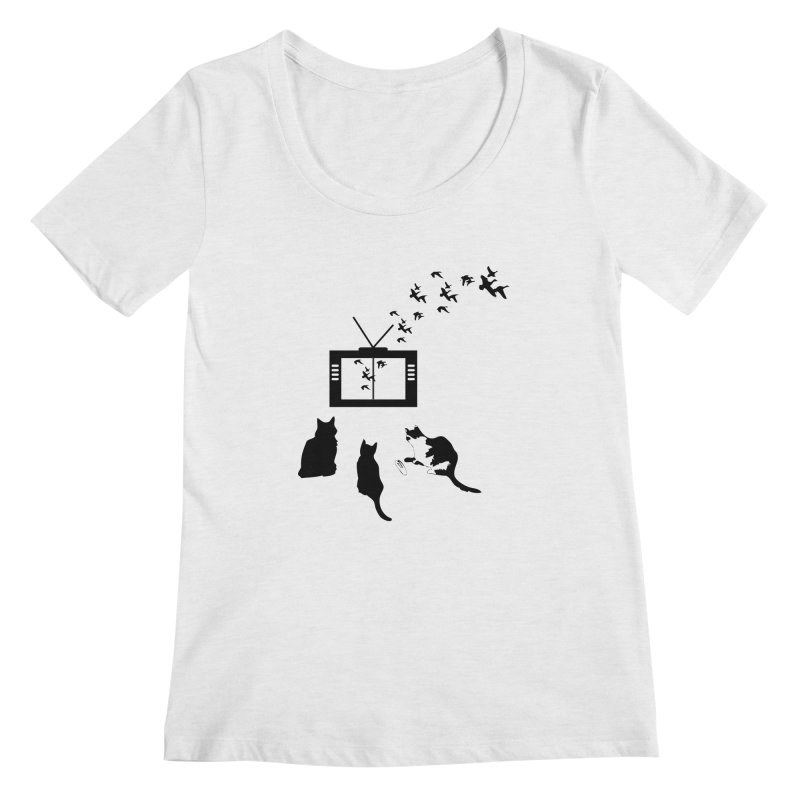 BirbTV Women's Regular Scoop Neck by theletterandrew's Artist Shop