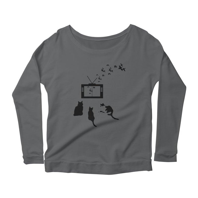 BirbTV Women's Scoop Neck Longsleeve T-Shirt by theletterandrew's Artist Shop