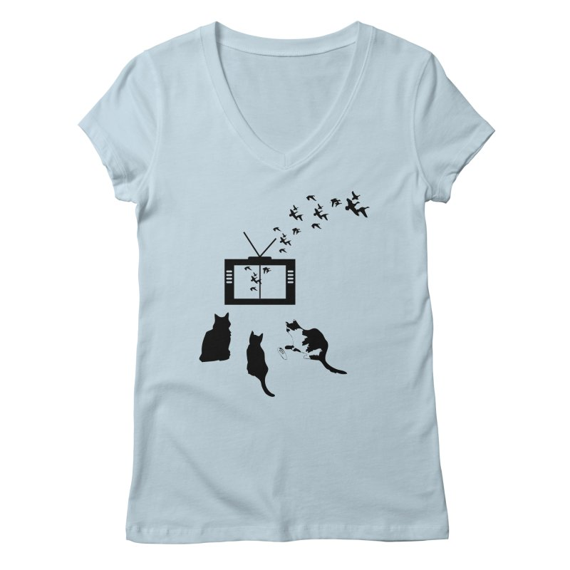 BirbTV Women's V-Neck by theletterandrew's Artist Shop