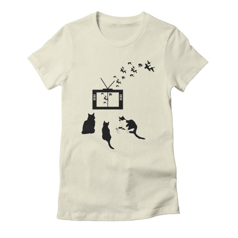 BirbTV Women's Fitted T-Shirt by theletterandrew's Artist Shop