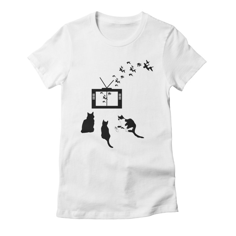 BirbTV Women's Fitted T-Shirt by theletterandrew's Artist Shop