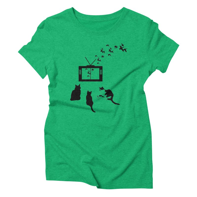 BirbTV Women's Triblend T-Shirt by theletterandrew's Artist Shop