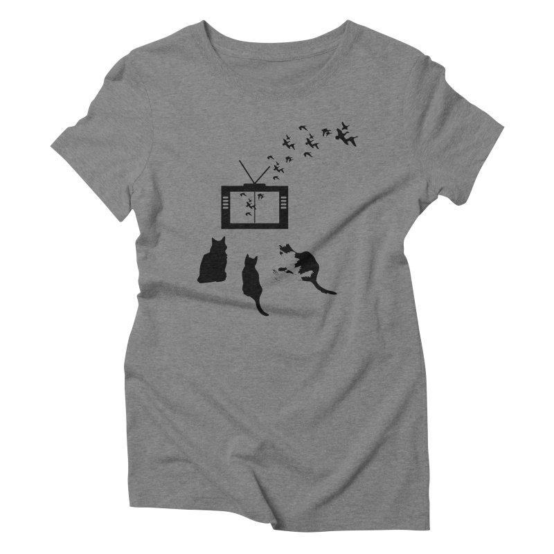 BirbTV Women's Triblend T-Shirt by theletterandrew's Artist Shop
