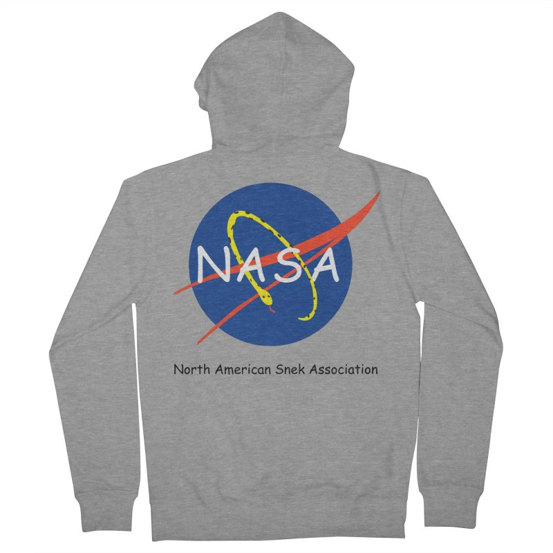 NASA- North American Snek Association Women's French Terry Zip-Up Hoody by theletterandrew's Artist Shop