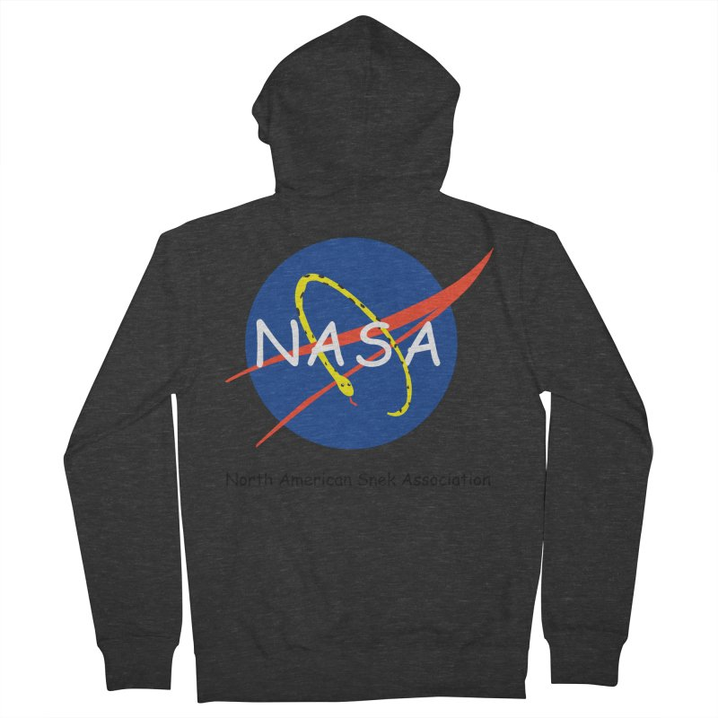 NASA- North American Snek Association Men's French Terry Zip-Up Hoody by theletterandrew's Artist Shop