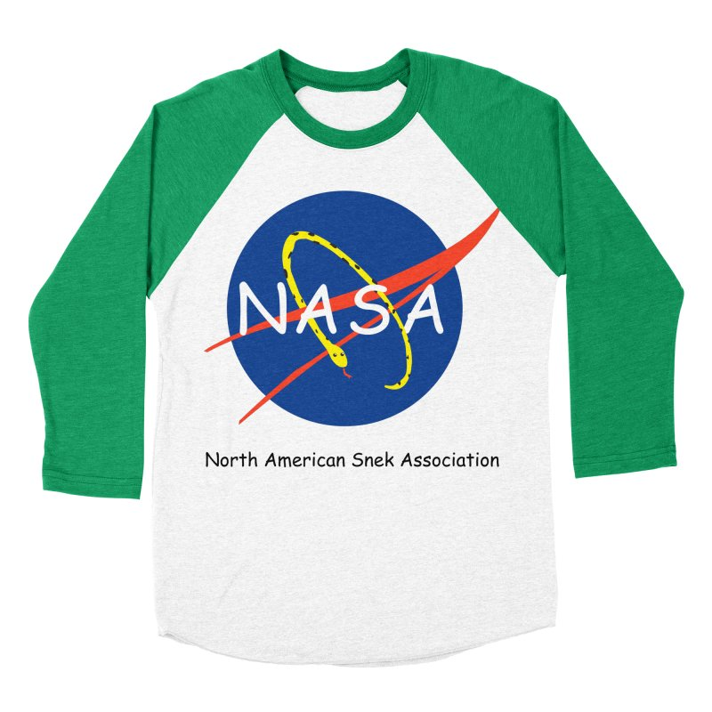 NASA- North American Snek Association Women's Baseball Triblend Longsleeve T-Shirt by theletterandrew's Artist Shop