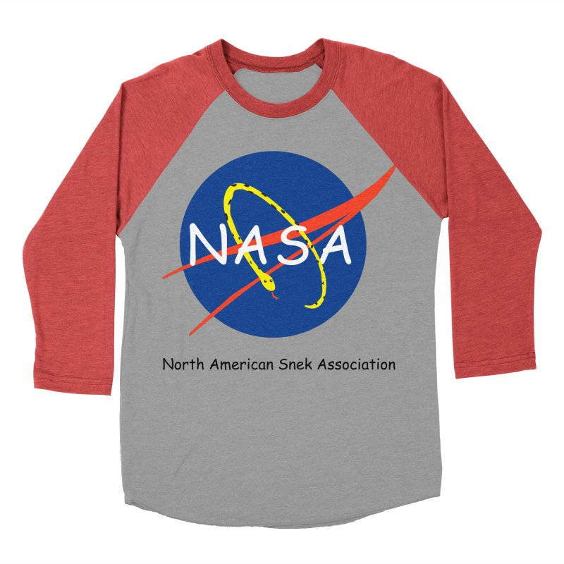 NASA- North American Snek Association Men's Baseball Triblend Longsleeve T-Shirt by theletterandrew's Artist Shop