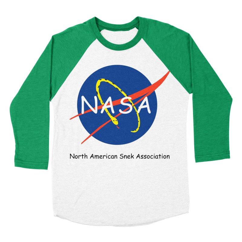 NASA- North American Snek Association Men's Baseball Triblend Longsleeve T-Shirt by theletterandrew's Artist Shop