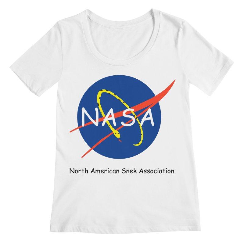 NASA- North American Snek Association Women's Regular Scoop Neck by theletterandrew's Artist Shop