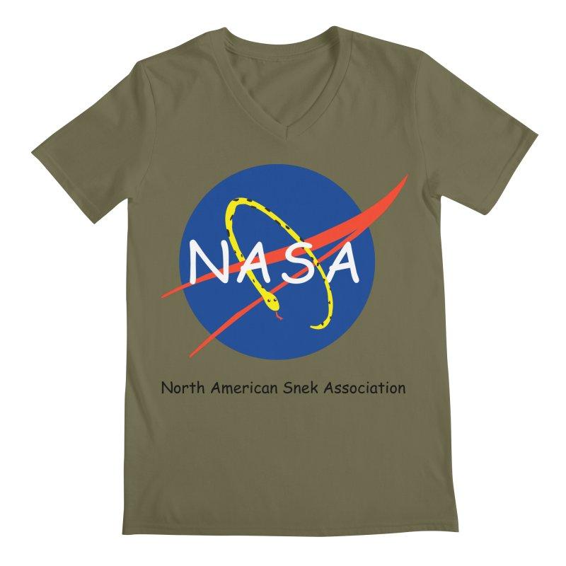 NASA- North American Snek Association Men's Regular V-Neck by theletterandrew's Artist Shop
