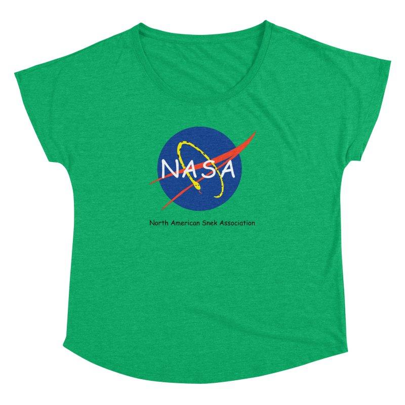 NASA- North American Snek Association Women's Dolman Scoop Neck by theletterandrew's Artist Shop