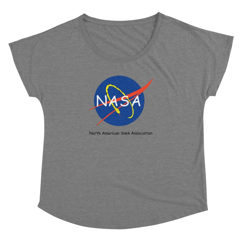 NASA- North American Snek Association Women's Dolman Scoop Neck by theletterandrew's Artist Shop