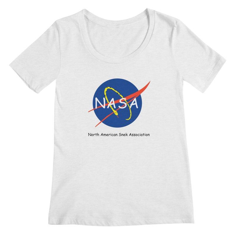 NASA- North American Snek Association Women's Scoop Neck by theletterandrew's Artist Shop