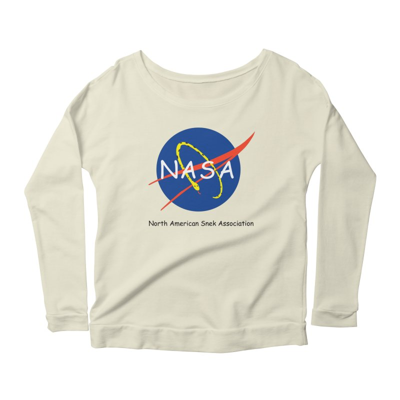 NASA- North American Snek Association Women's Scoop Neck Longsleeve T-Shirt by theletterandrew's Artist Shop