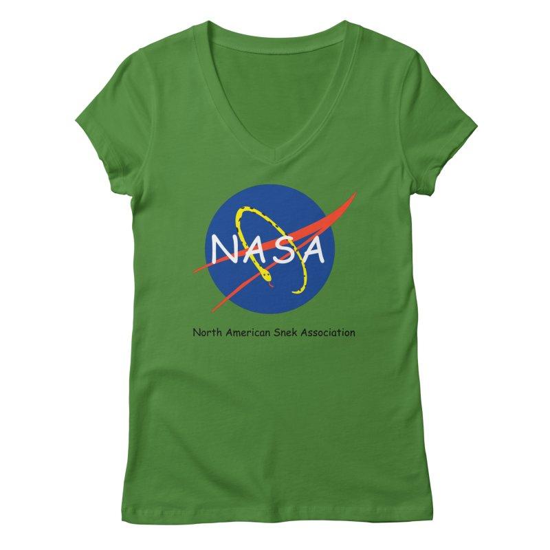 NASA- North American Snek Association Women's Regular V-Neck by theletterandrew's Artist Shop