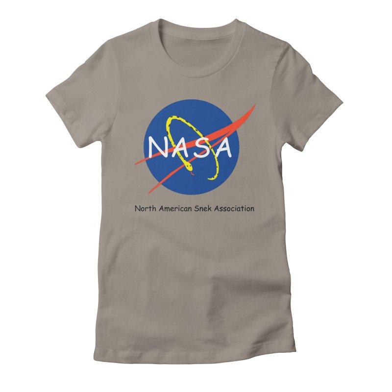 NASA- North American Snek Association Women's Fitted T-Shirt by theletterandrew's Artist Shop