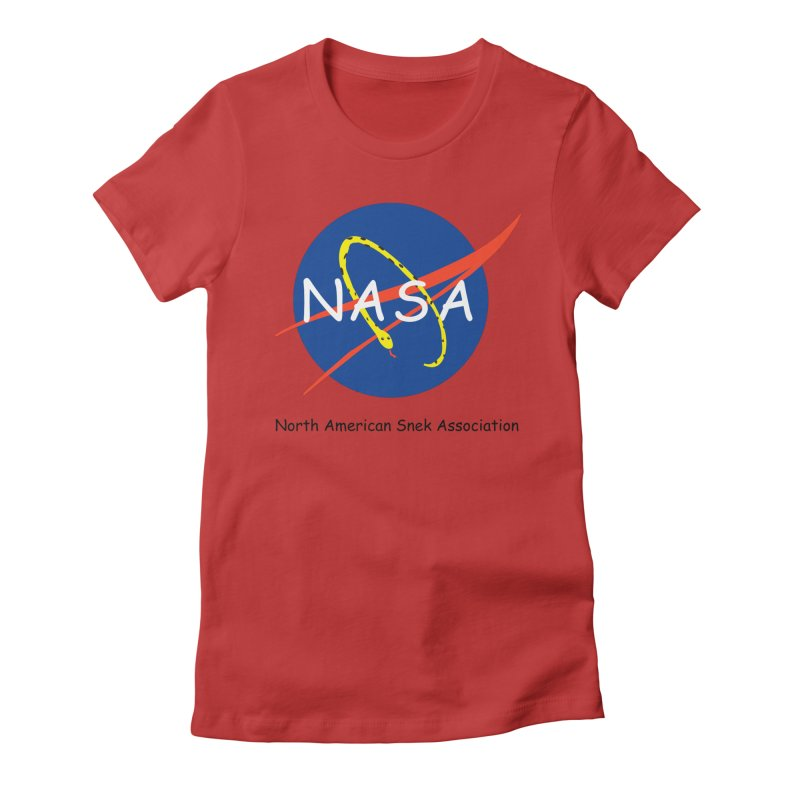 NASA- North American Snek Association Women's Fitted T-Shirt by theletterandrew's Artist Shop