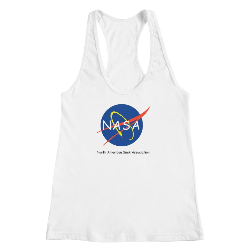 NASA- North American Snek Association Women's Racerback Tank by theletterandrew's Artist Shop