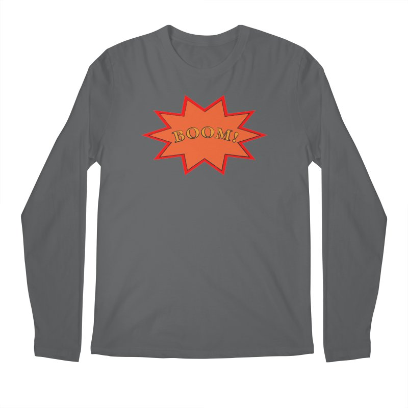 BOOM! Men's Regular Longsleeve T-Shirt by theletterandrew's Artist Shop