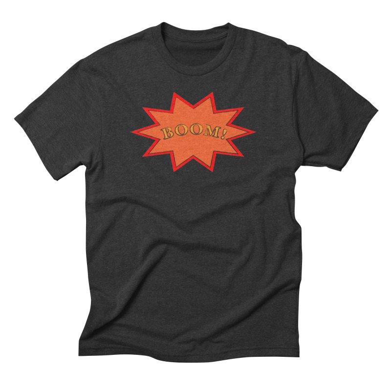 BOOM! Men's Triblend T-Shirt by theletterandrew's Artist Shop