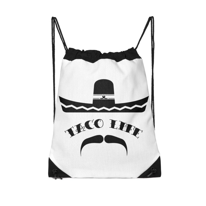 Taco  Life Accessories Drawstring Bag Bag by The Long Kiss Goodnight's Artist Shop
