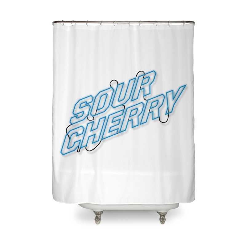 Sour Cherry Home Shower Curtain by The Long Kiss Goodnight's Artist Shop