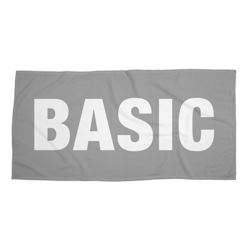 Basic is basic Accessories Beach Towel by The Lorin