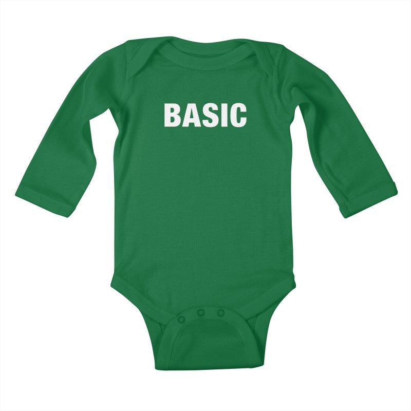 Basic is basic Kids Baby Longsleeve Bodysuit by The Lorin