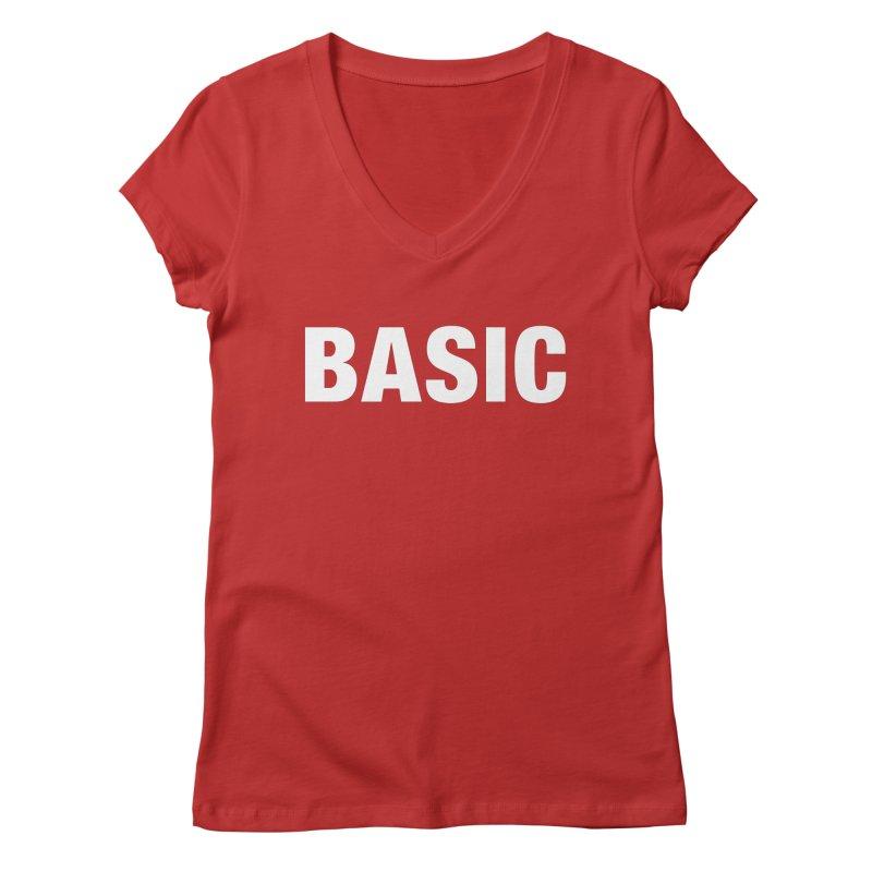 Basic is basic Women's Regular V-Neck by The Lorin