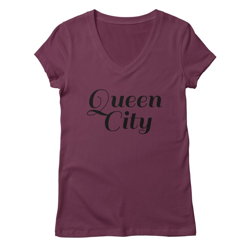 Queen City (Poughkeepsie, NY) Women's Regular V-Neck by The Lorin