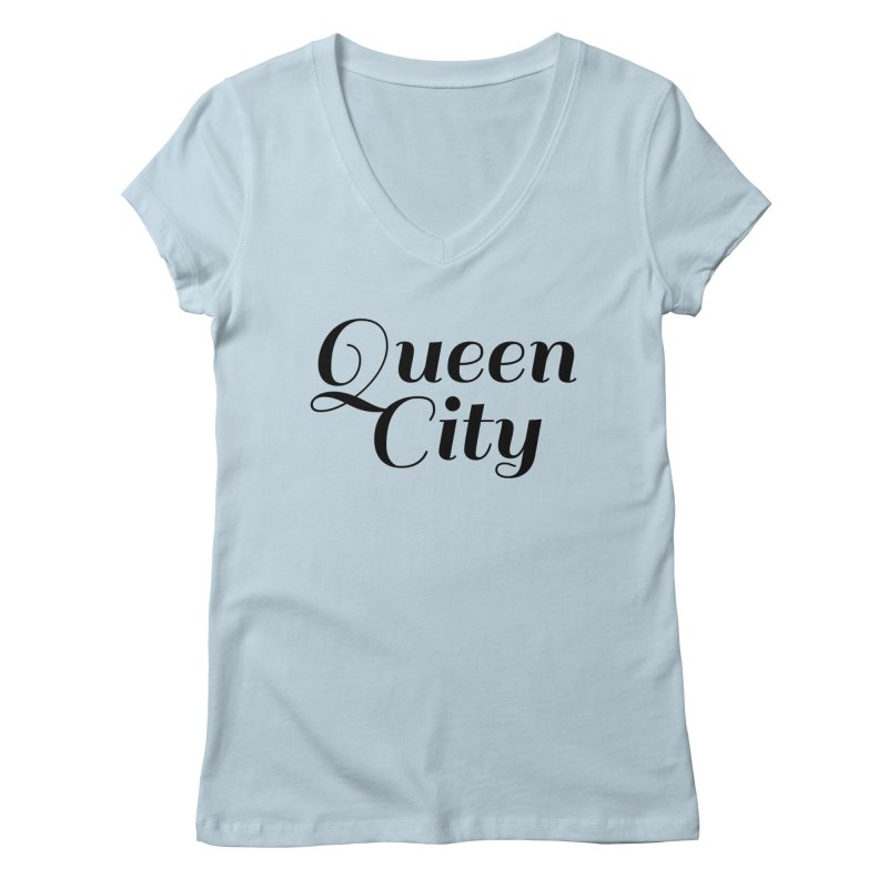 Queen City (Poughkeepsie, NY) Women's V-Neck by The Lorin