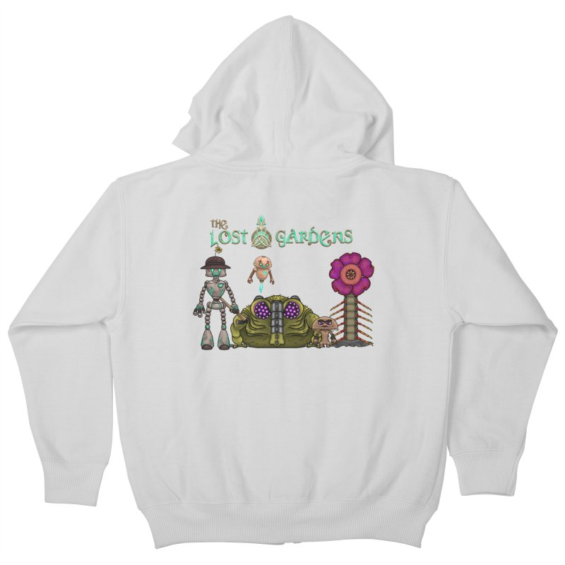 All Characters Kids Zip-Up Hoody by The Lost Gardens Official Merch