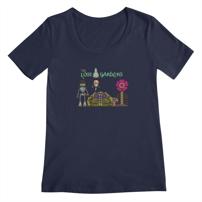 All Characters Women's Scoopneck by The Lost Gardens Official Merch