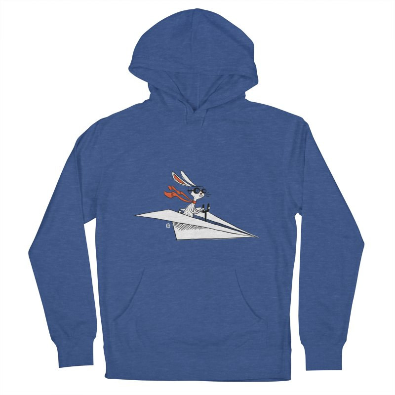 Paper Hare Plane Men's Pullover Hoody by theloulander's Artist Shop