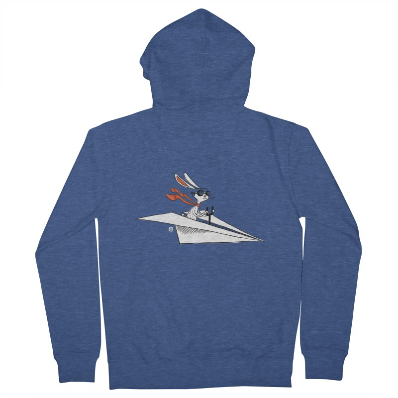 Paper Hare Plane Men's Zip-Up Hoody by theloulander's Artist Shop